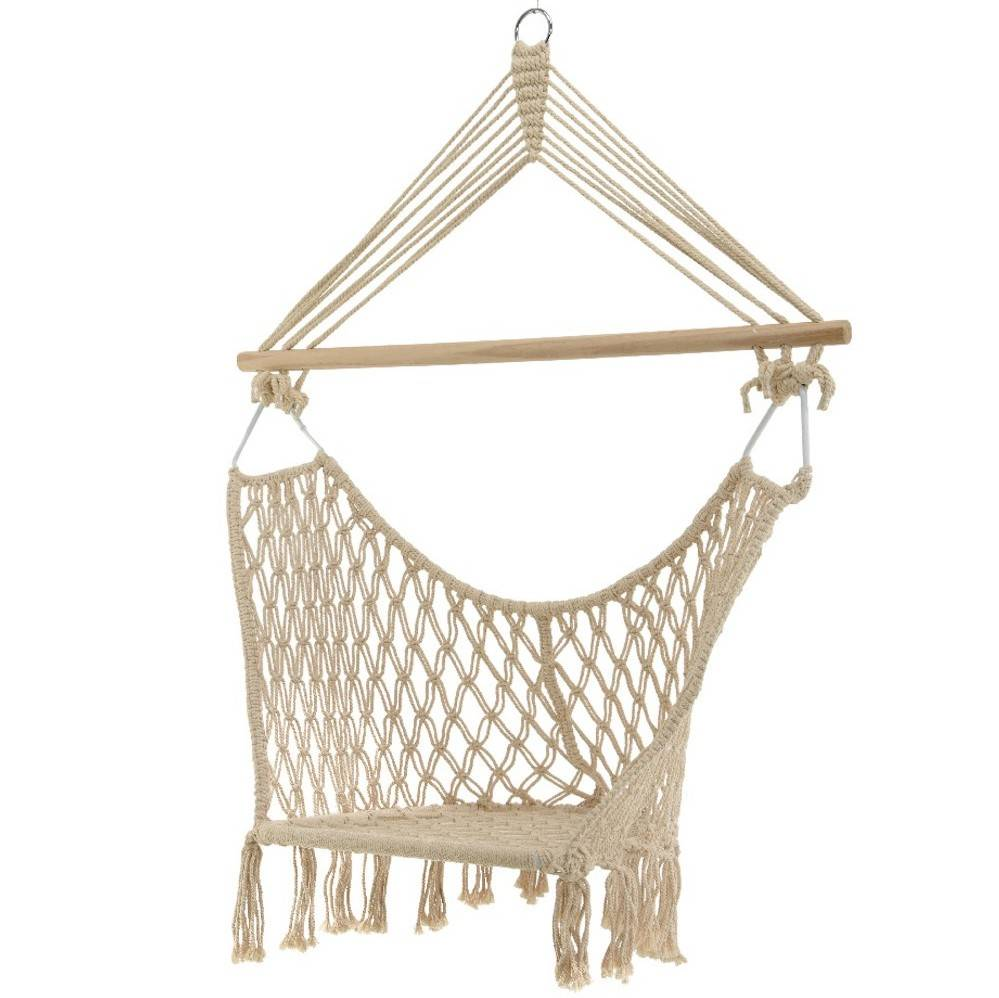 hanging chair notonthehighstreet harmony high green cream macrame box seat by ella james com