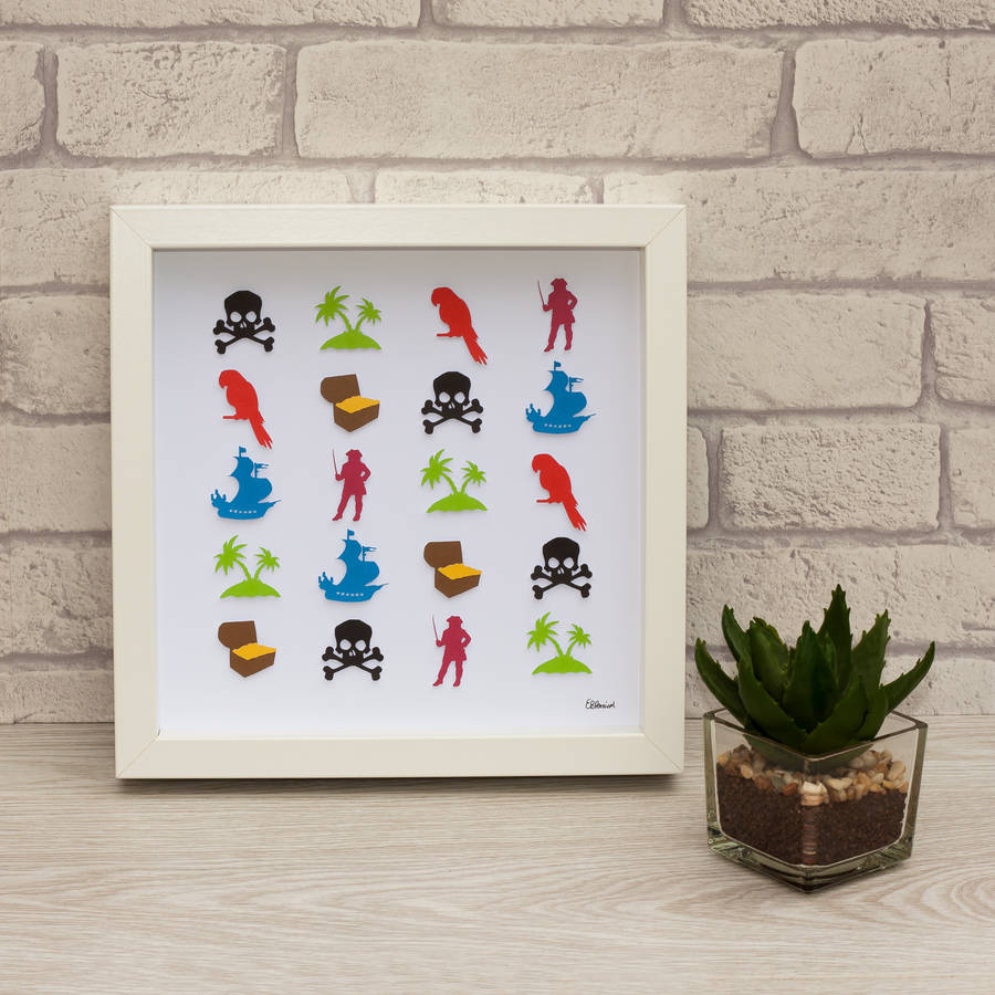 personalised hand crafted d pirate framed wall art by frames by