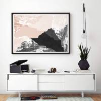 large abstract wall art print living room art by bronagh ...