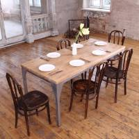 industrial style contemporary dining table by cosywood