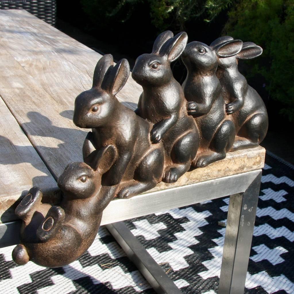 rabbits play sculpture landscape architecture