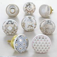 royal gold ceramic door knobs cupboard door handles by g ...