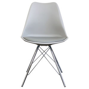 hanging chair notonthehighstreet low back dining chairs com light grey copenhagen with chrome legs