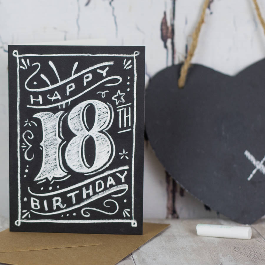 18th 21st 30th 40th 50th 60th 70th 80th Birthday Card By