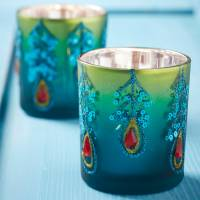 peacock tea light candle holder by the christmas home ...