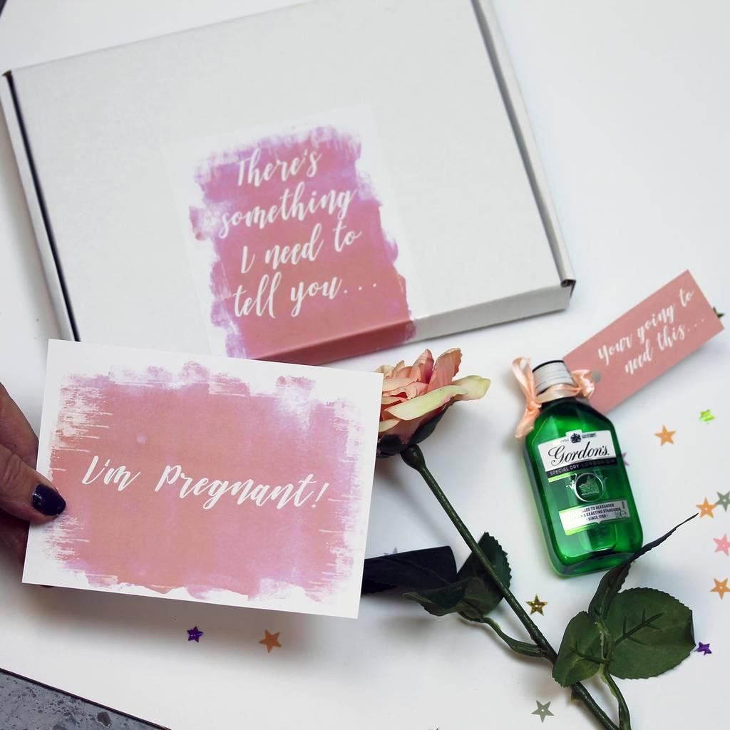pregnancy announcement letterbox gift
