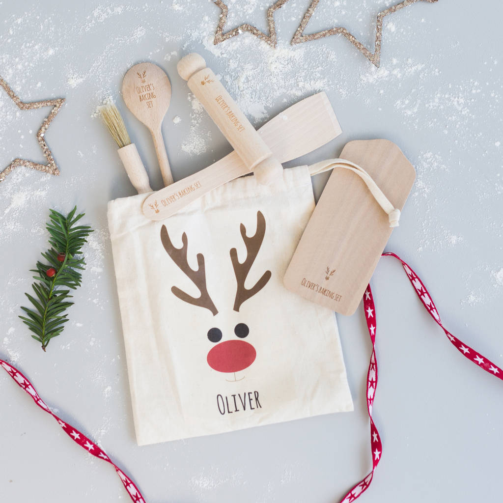 Kids Christmas Personalised Baking Kit By Rocket And Fox