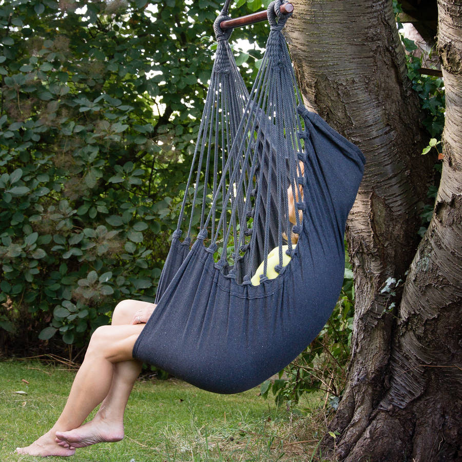 hanging chair notonthehighstreet travel potty for car charcoal hammock swing seat by ella james com