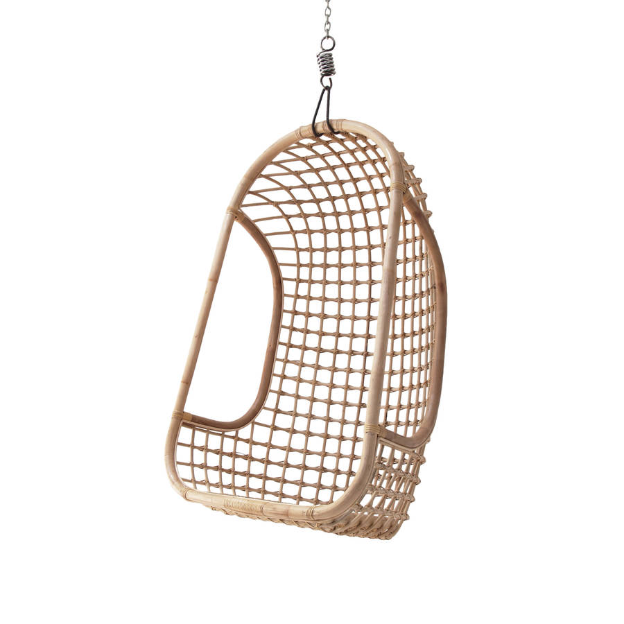 hanging chair notonthehighstreet unfinished oak chairs rattan in three colours by out there interiors com