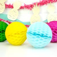 tissue paper ball decoration by peach blossom ...