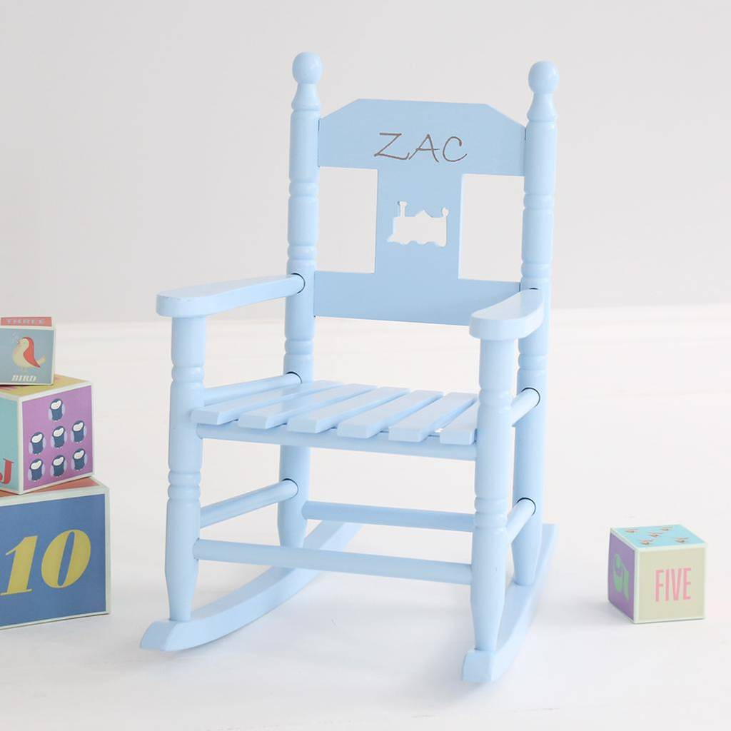 Monogrammed Toddler Chair Personalised Child S Rocking Chair