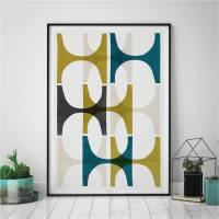 abstract geometric wall art print by bronagh kennedy - art ...
