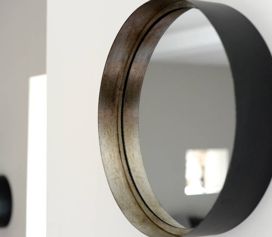 deep silver and black mirrors by the forest  co