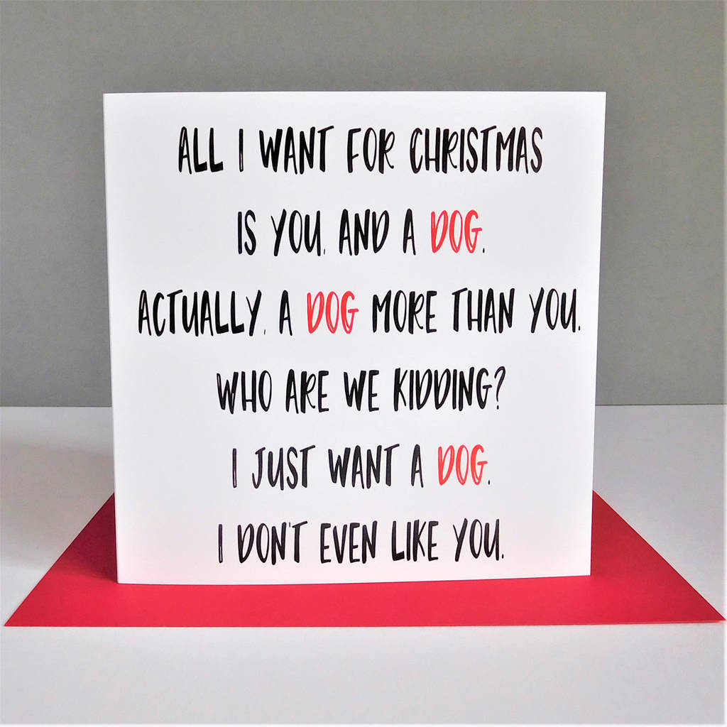Funny Dog Christmas Card By The New Witty