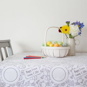 Personalised Colour In Easter Tablecloth