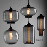 art deco glass pendant light by unique's co ...