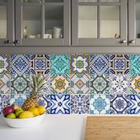 traditional spanish tile stickers set pack of 24 by ...