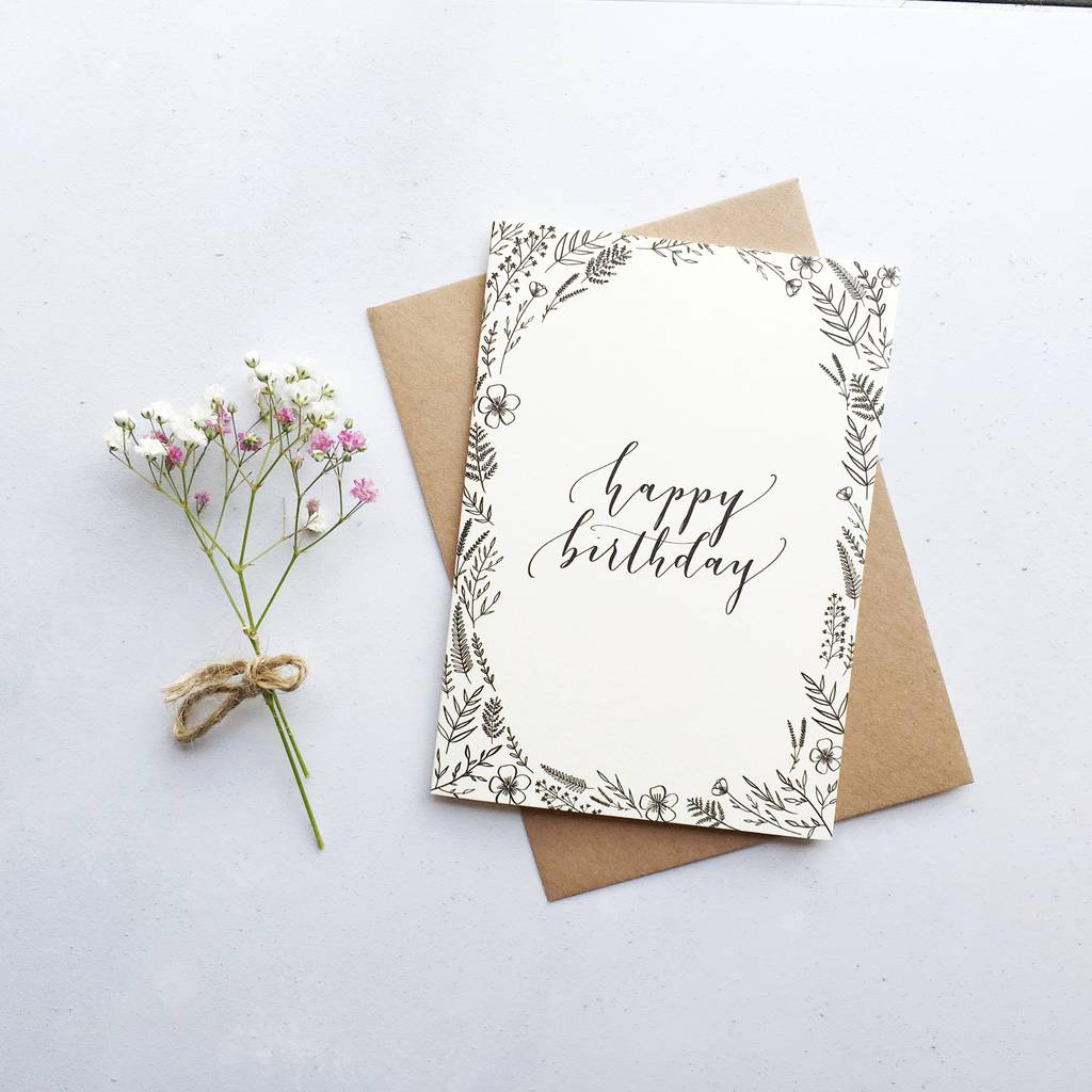 Birthday Calligraphy Cards FreePicturesHD Com