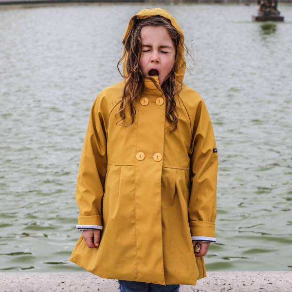 Girl' Yellow Raincoat Alioli Kids