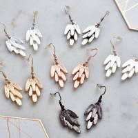 metal feather earrings by my posh shop ...