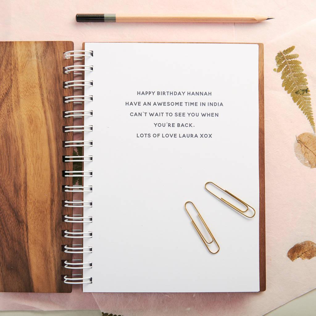 personalised gold ideas walnut notebook by oakdene designs   notonthehighstreet.com