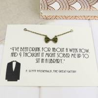 the great gatsby bow tie necklace by literary emporium ...