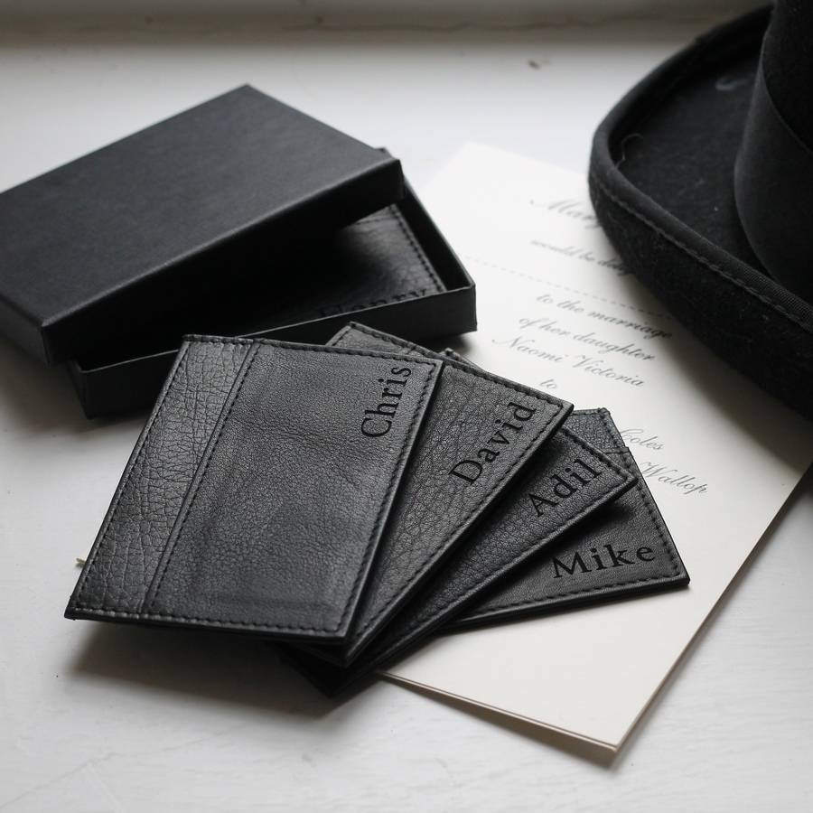 personalised leather card holder by nv london calcutta  notonthehighstreetcom