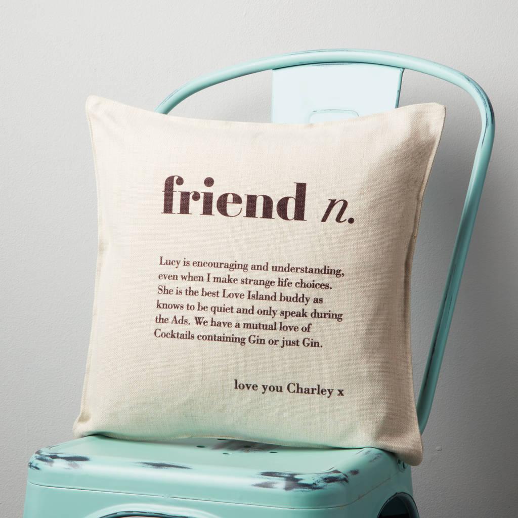 personalised friend cushion