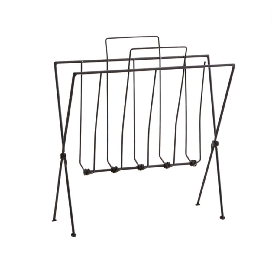 black or gold wire magazine rack by posh totty designs