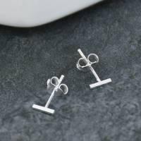 sterling silver bar stud earrings by ellie ellie