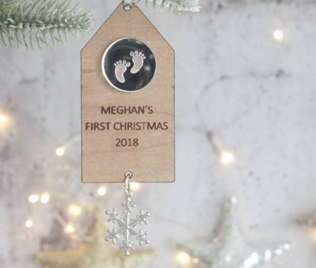 Babys First Christmas Personalised Charm Decoration