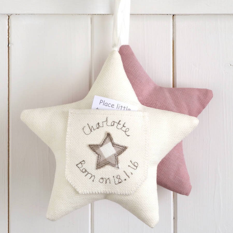personalised tooth fairy pillow gift