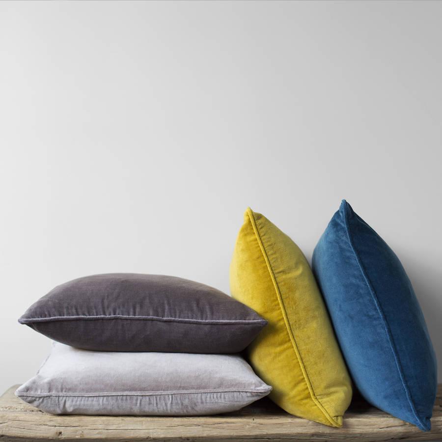 velvet rectangular cushion by home address