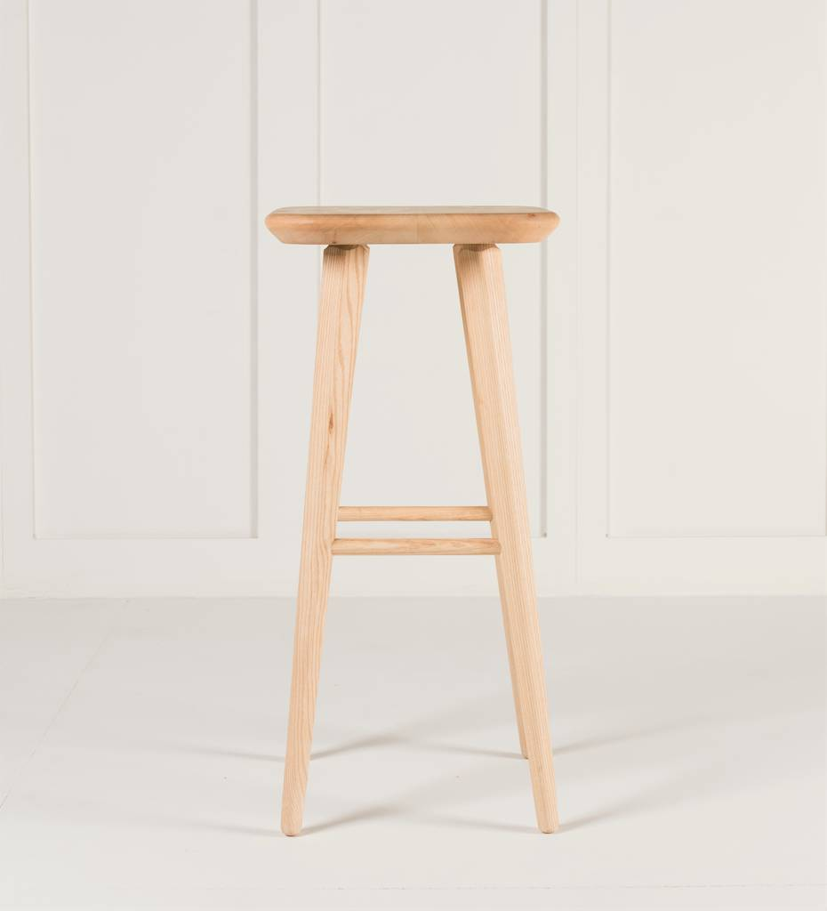 Wood Bar Chairs Hand Crafted Wooden Bar Stool