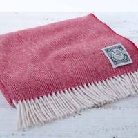 nordic style red and white throw by tolly mcrae ...
