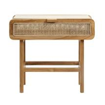 rattan teak console table bell
