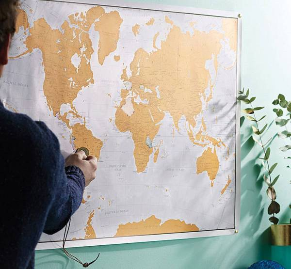 scratch the world print with coin by maps international