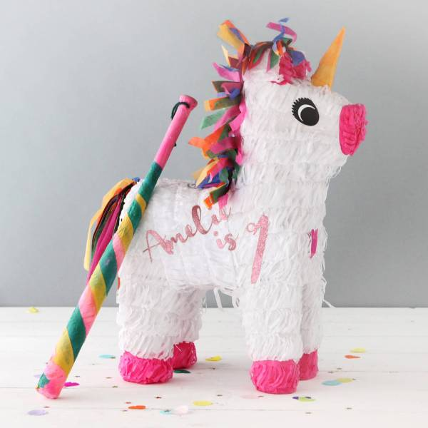 Personalised Unicorn Party Piata Postbox