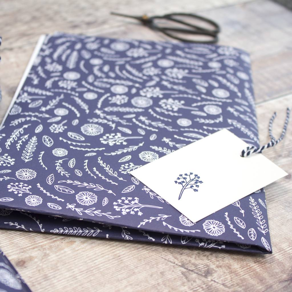 luxury flower print wrapping