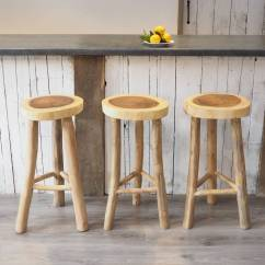 Wooden Kitchen Stools Oil Rubbed Bronze Light Fixtures Stool Two Sizes By Za Homes