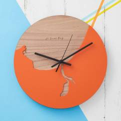 Wooden Kitchen Clock Ceiling Paint Coastline And Acrylic By Betsy Benn Favourite Map