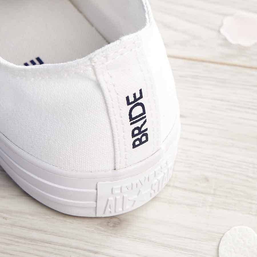 bride custom wedding converse by nappy head  notonthehighstreetcom