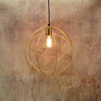 gold brass globe ceiling pendant light orb chandelier by