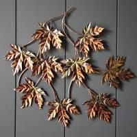 copper leaf wall art by london garden trading