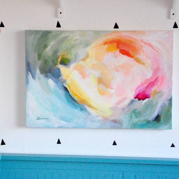 'happy' Original Contemporary Abstract Painting Paint-happy Art