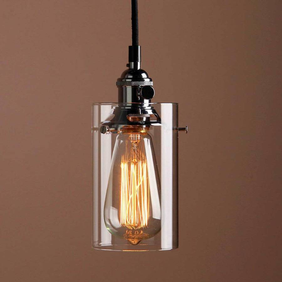 cylinder glass lighting pendant by unique's co