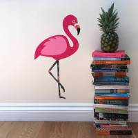 flamingo wall sticker by chameleon wall art ...