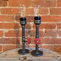 upcycled pipe lamps : elizabeth and victoria by upcycled ...