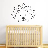 hedgehog face wall sticker by spin collective ...