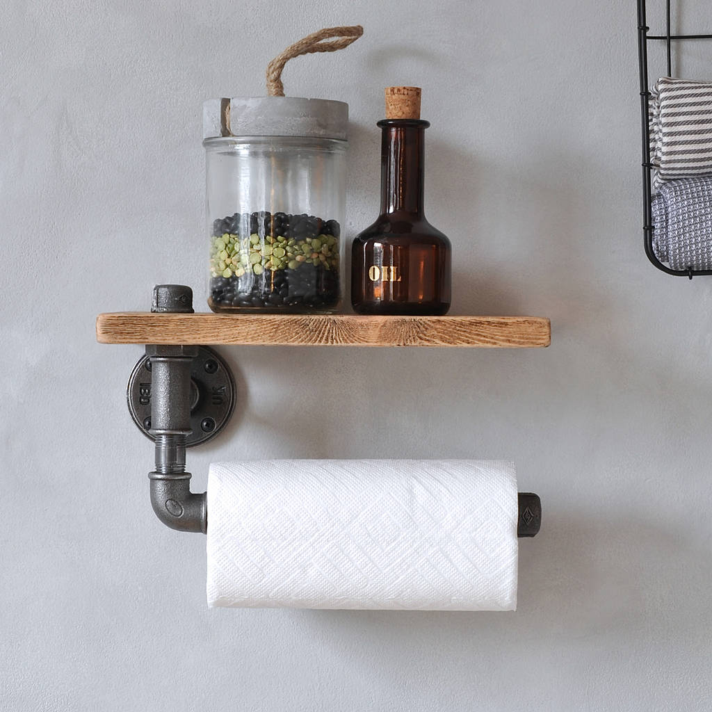 kitchen towel racks faucet filter industrial holder and shelf by